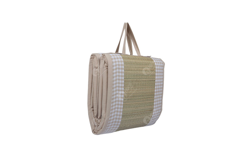 Travel Bed DF - Gingham Check  Beige