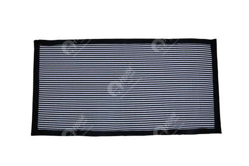 Travel Bed DF - Thin Stripes Black