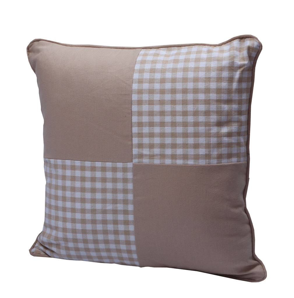 Cushion Cover - Gingham Check Beige Jiont