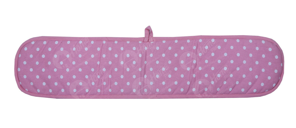 Double Oven Gloves - Polka Dot Pink