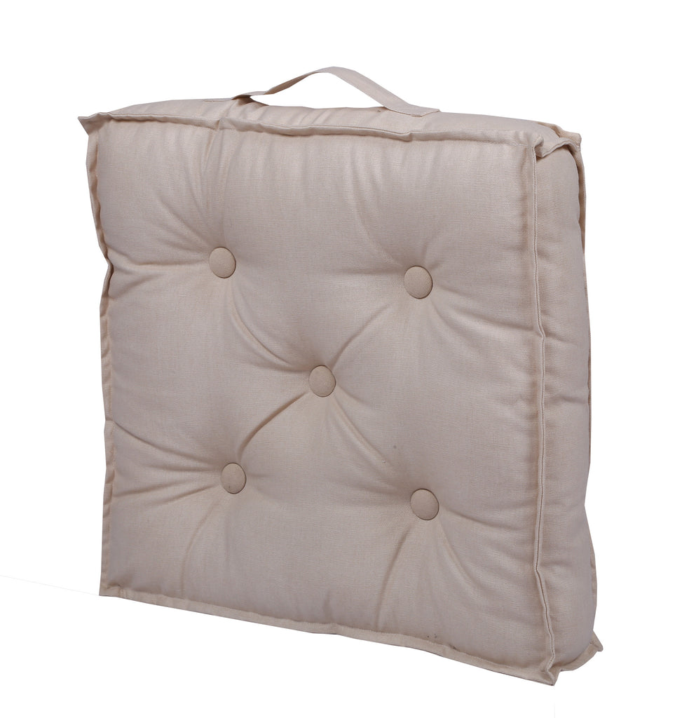 Floor Cushion - Solid Beige