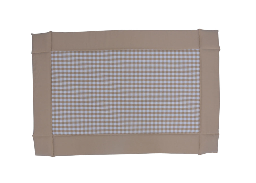 Baby Foam Bed - Gingham Check Beige