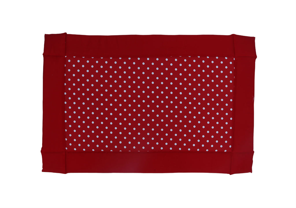 Baby Foam Bed - Polka Dots Red