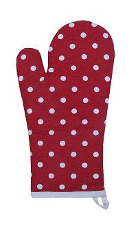 Glove - Polka Dot Red