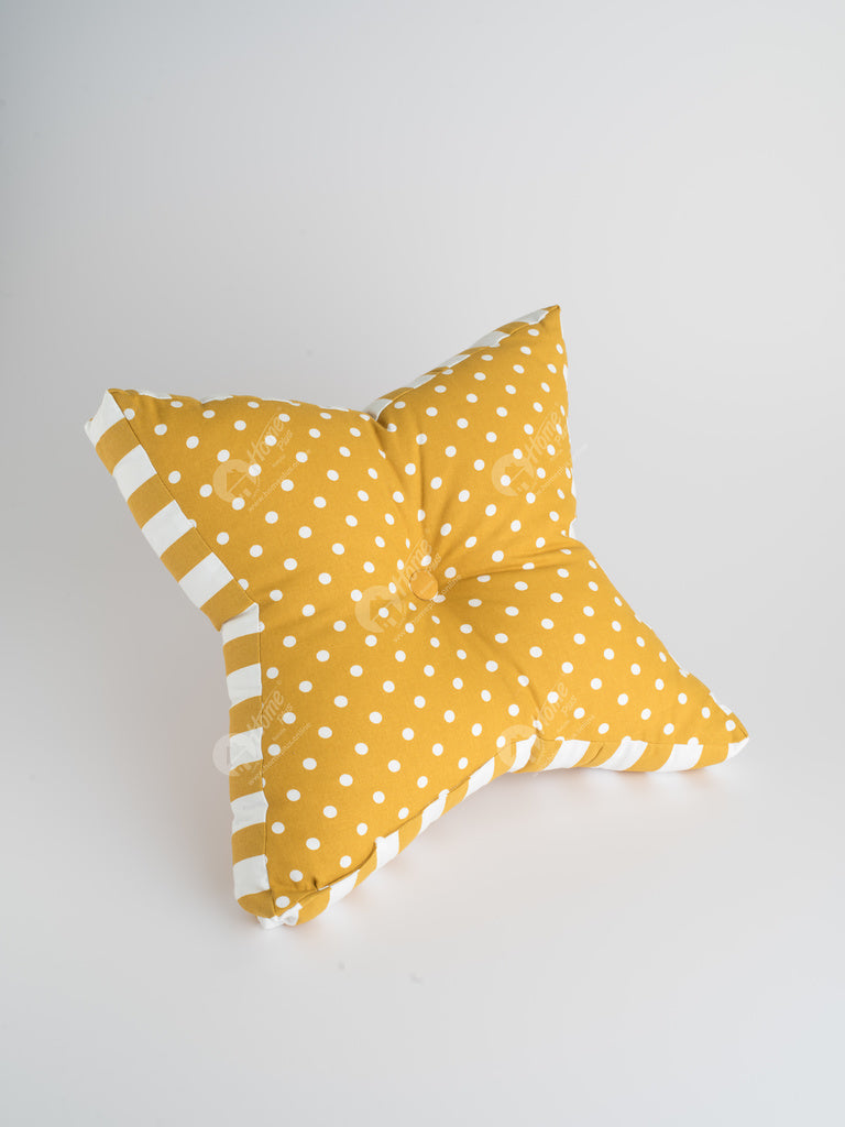 Floor Cushion S - Polka Dot Mustard