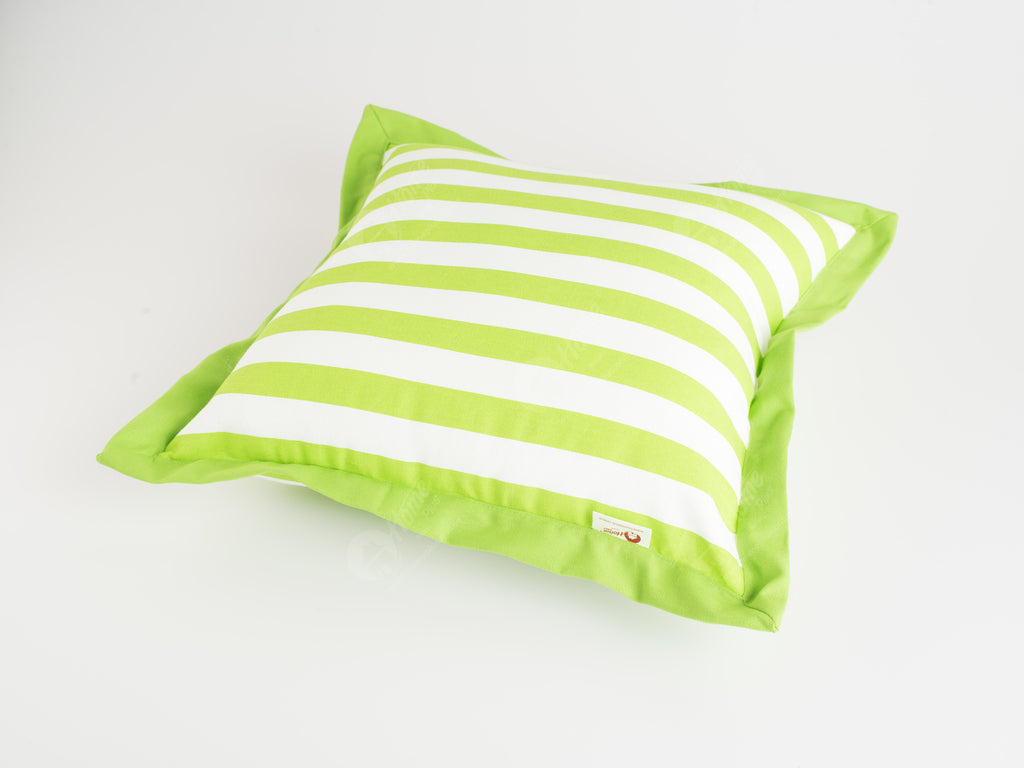 Flange Cushion - Thick Stripe Green