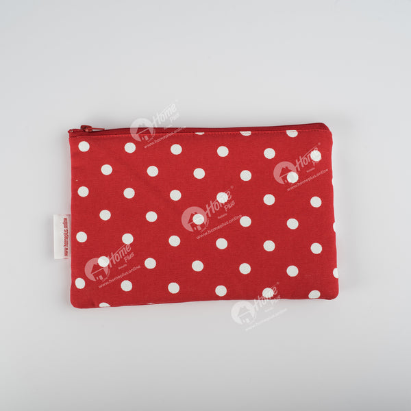 Pouch - Polka Dot Red