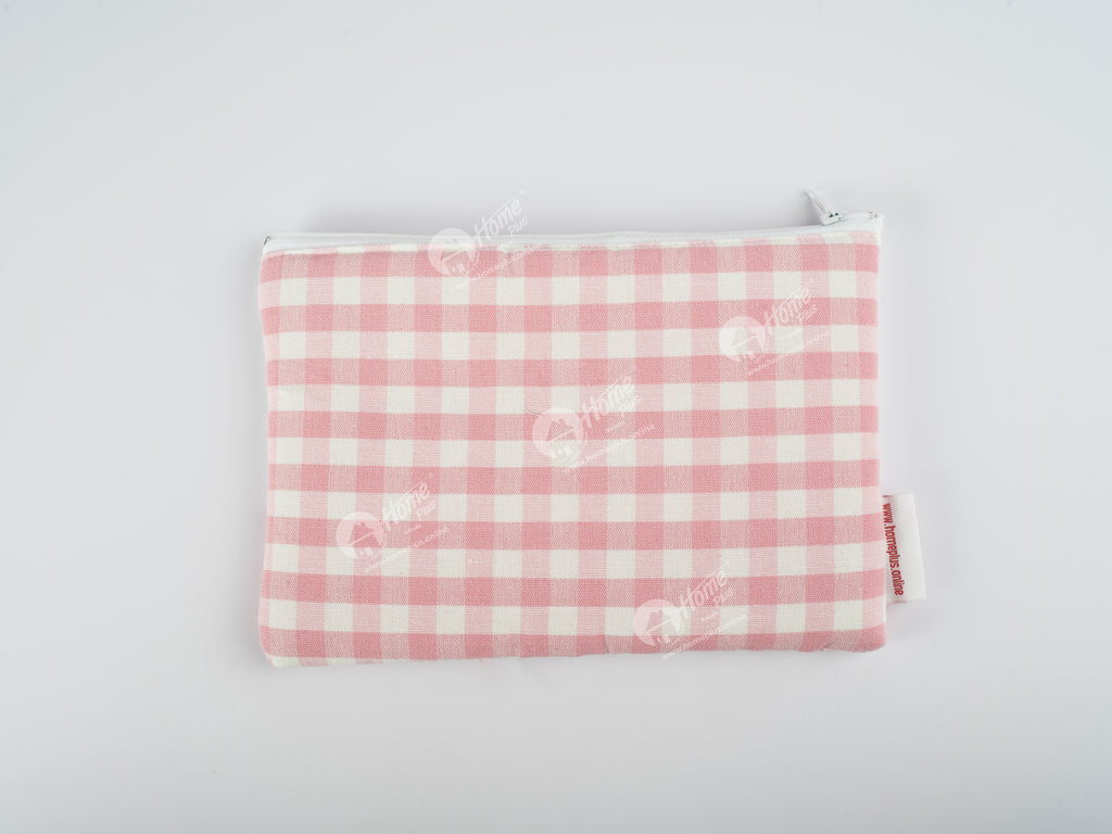 Pouch - Gingham Check Pink