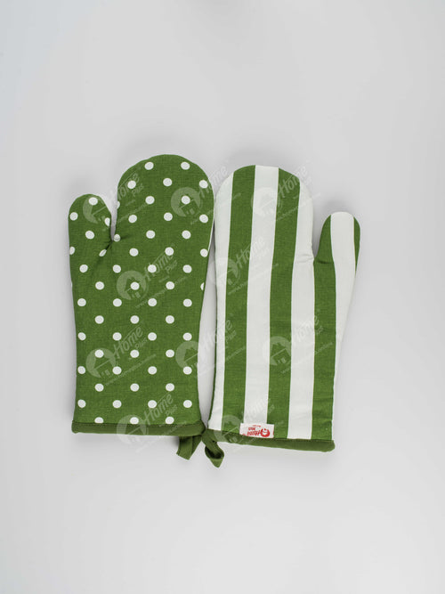 Glove - Polka Dot Dark Olive