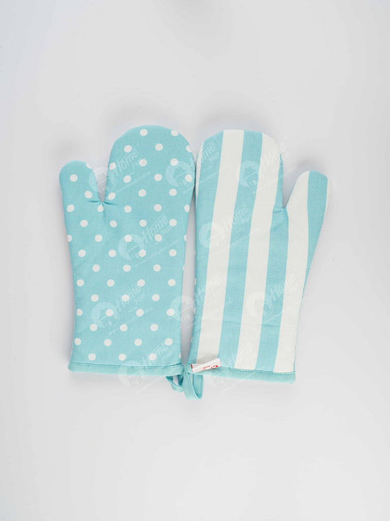 Glove - Polka Dot Blue