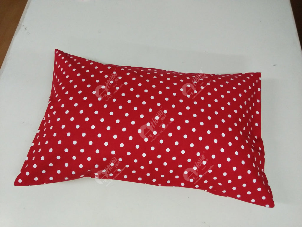 Pillow cover - Polka Dot Red