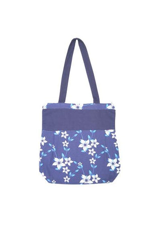 Shopping Bag - Wind Flr Navy