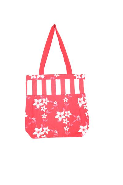 Shopping Bag - Wind Flr Red