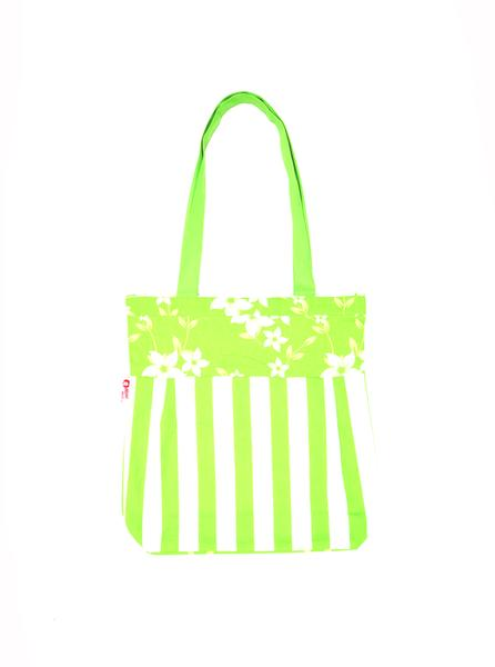 Shopping Bag - Wind Flr Green