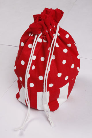 Gift Bag - Polka Dot Red