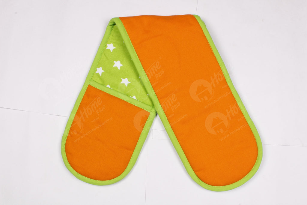 Double Oven Glove - Star Green