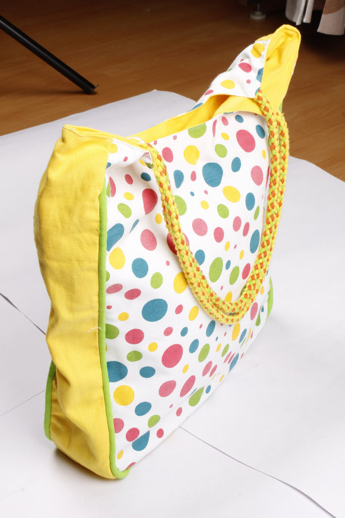 Handbag Large - Solid/Multi Polka