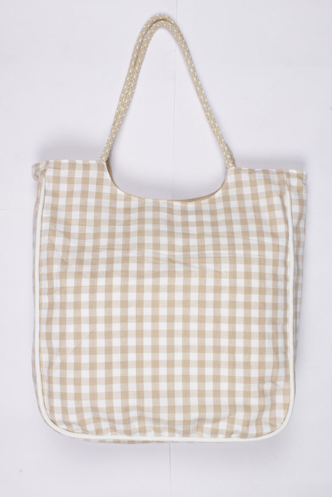 Handbag Large - Gingham Check