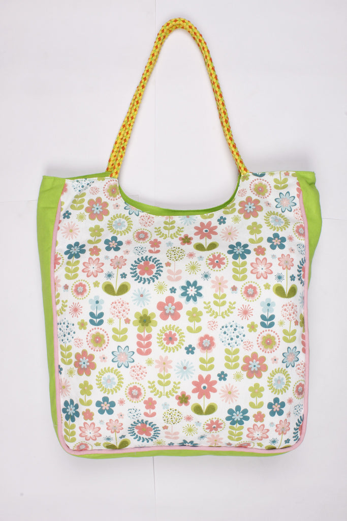 Handbag Large - Retro Flowers