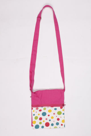 Fancy Bag Long Handle - Multi Polka