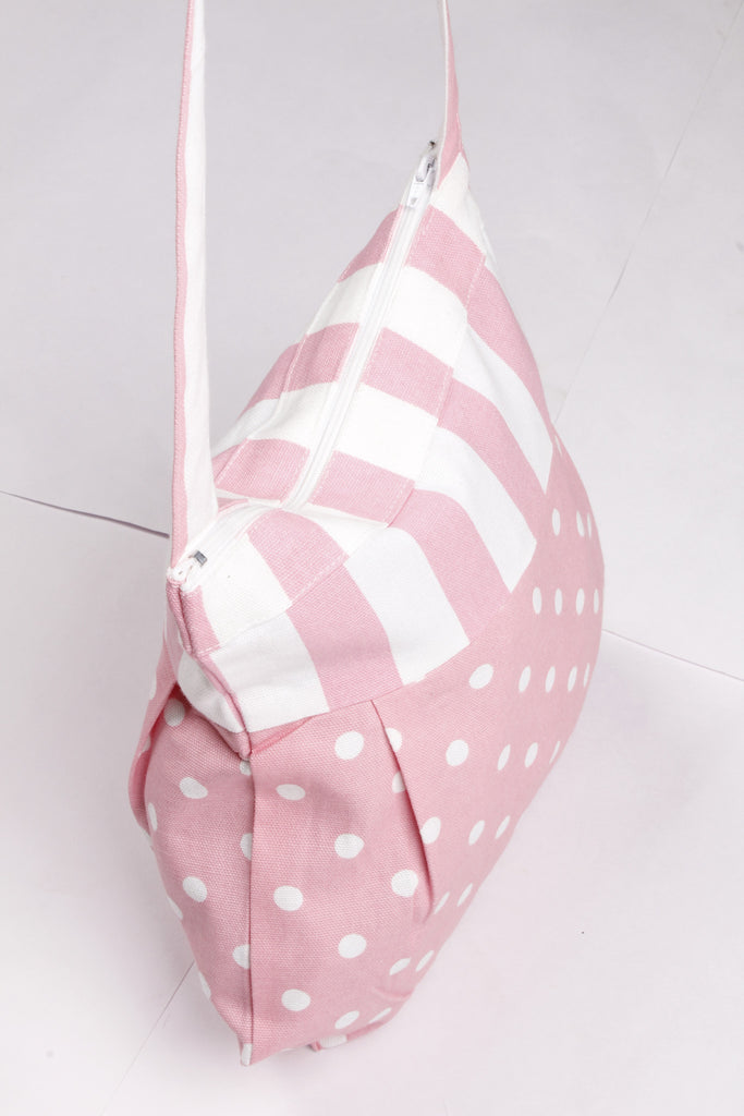 Fancy Bag Long Handle - Polka Dot Pink