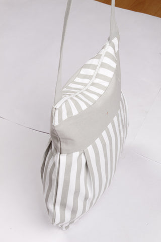 Fancy Bag Long Handle - Thin Stripe Grey