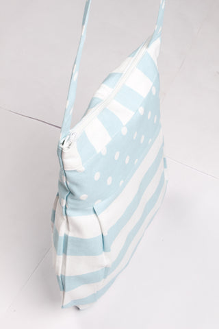 Fancy Bag Long Handle - Thick Stripe Blue