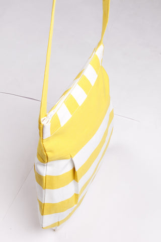 Fancy Bag Long Handle - Thick Stripe Yellow
