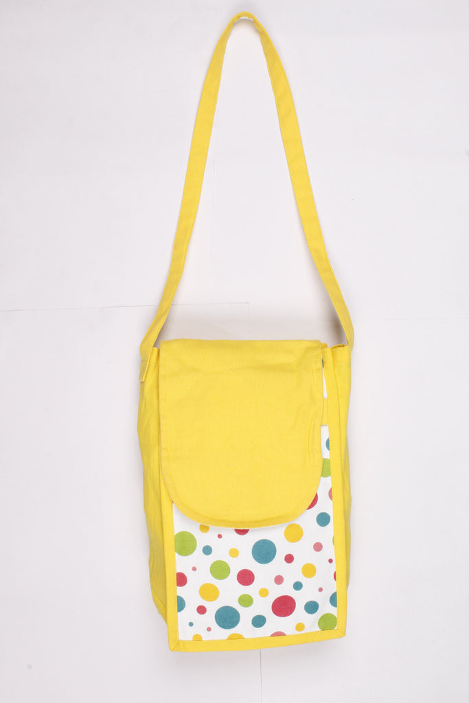 Fancy Bag Long Handle - Multi Polka Dot