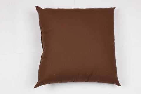 Solid Cushion - Choco 16 x 16""