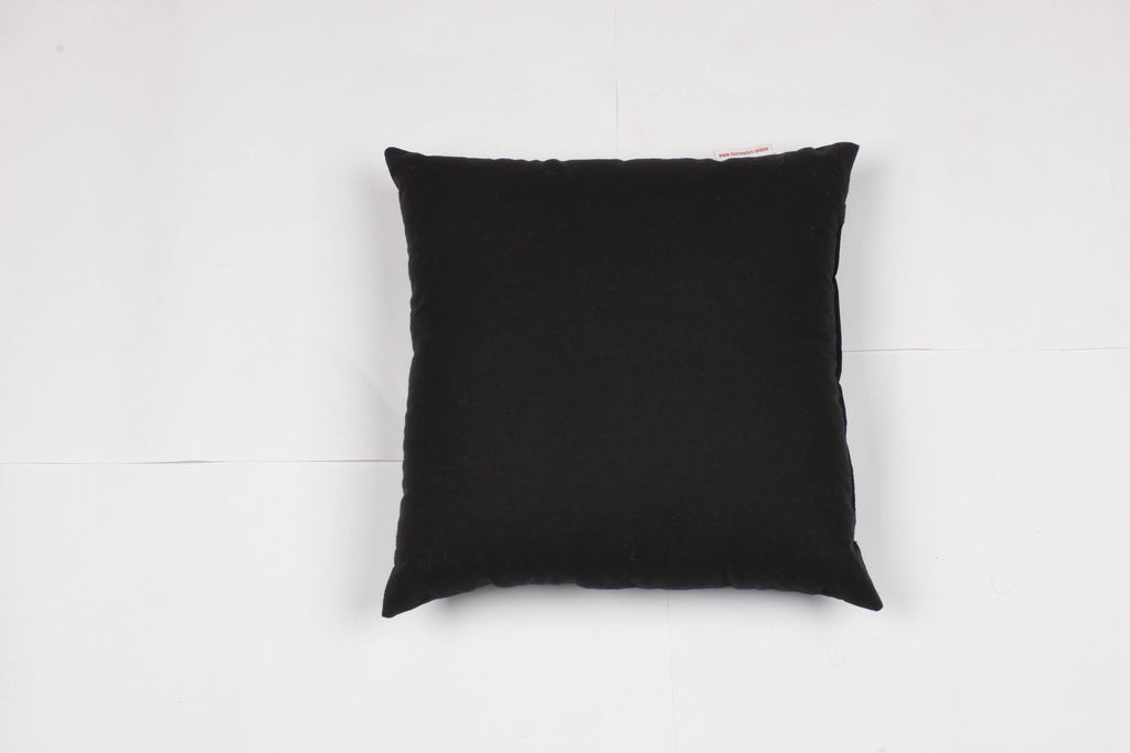 Solid Cushion - Black, 12 x 12""