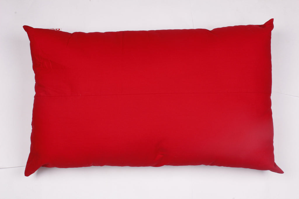 Pillow- Solid Red  (Pack of 4)