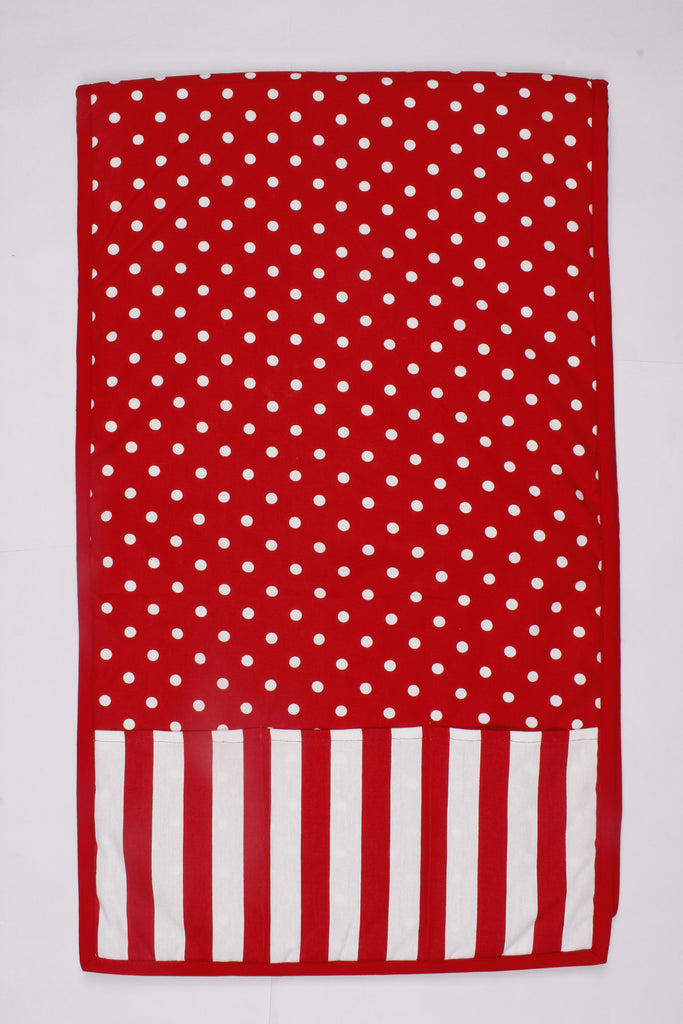 Fridge Cover Set - Polka Dot Red