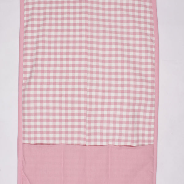 Fridge Cover - Gingham Check Pink