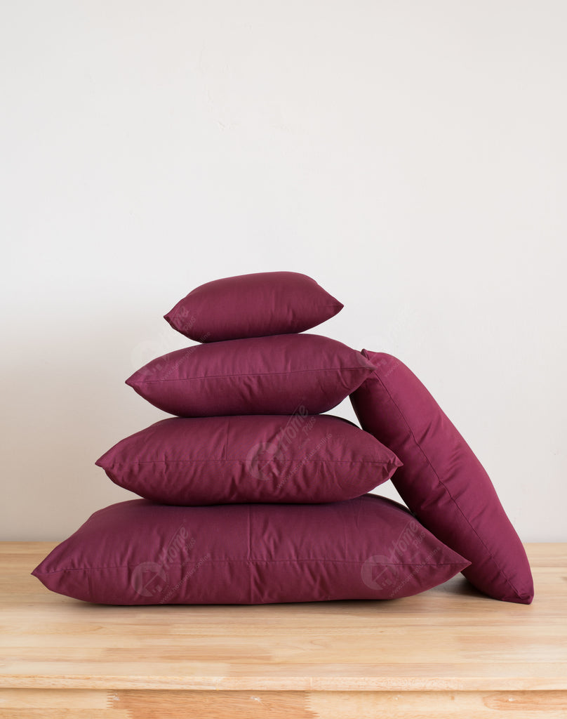 Solid Cushion - Plum