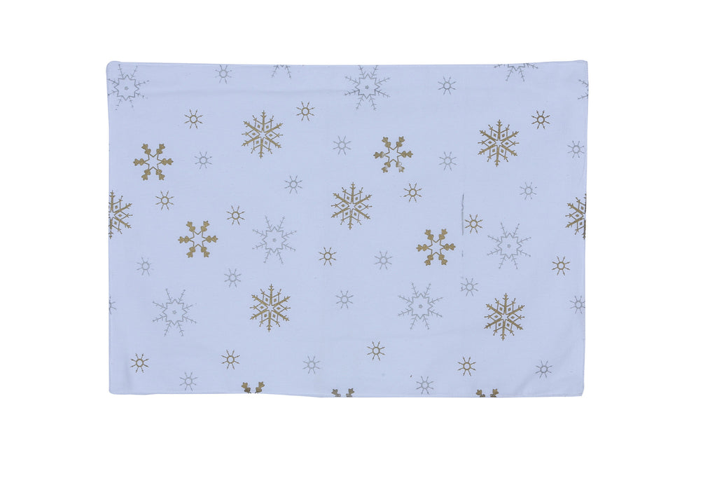 Table Mat - Gold Snowflake