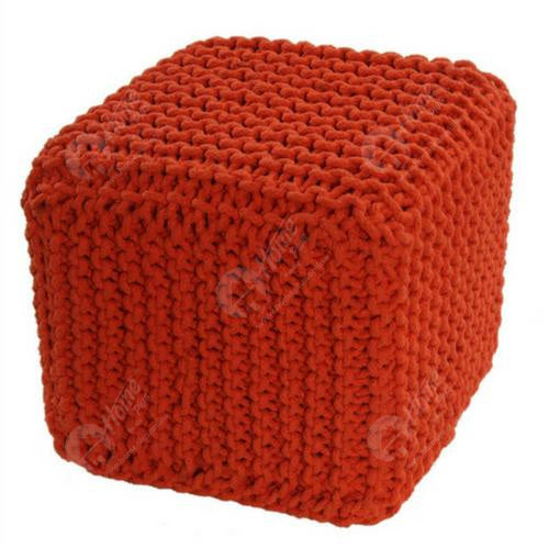 Knitted Cube Orange