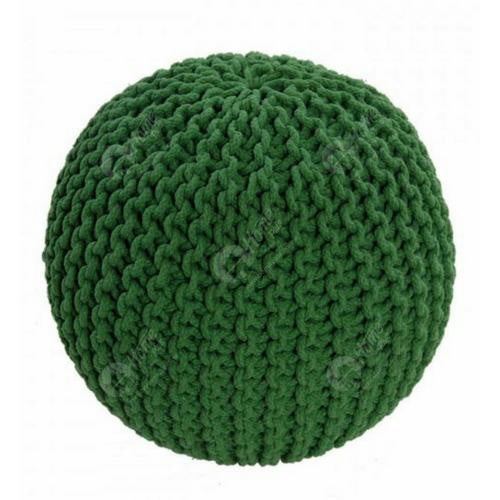 knitted Pouffe Green