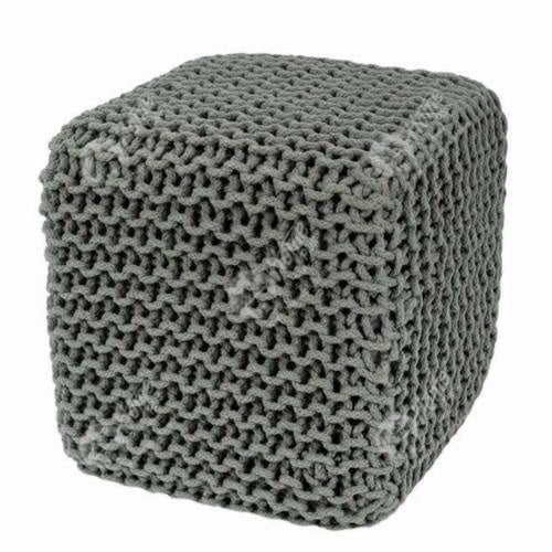 Knitted Cube Grey