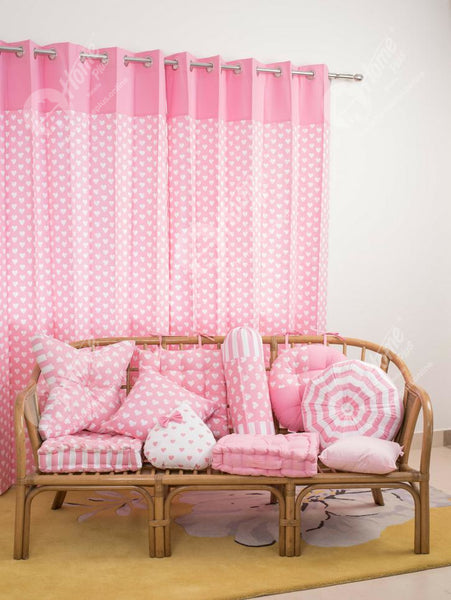 Curtains - Heart Pro Pink
