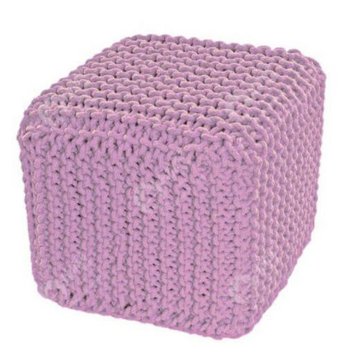 Knitted Cube Pink