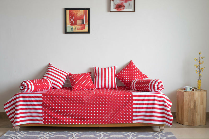 Diwan Set - Polka Dot Red