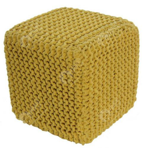 Knitted Cube Yellow
