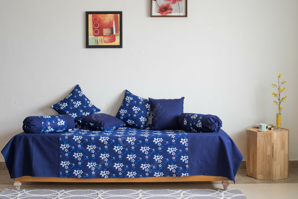 Diwan Set - Wind Flower Navy