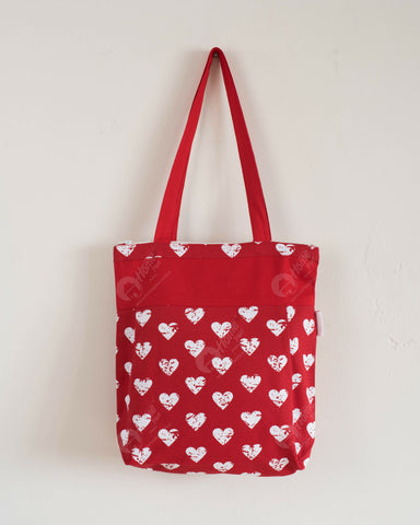 Shopping Bag - Heart Pro Red