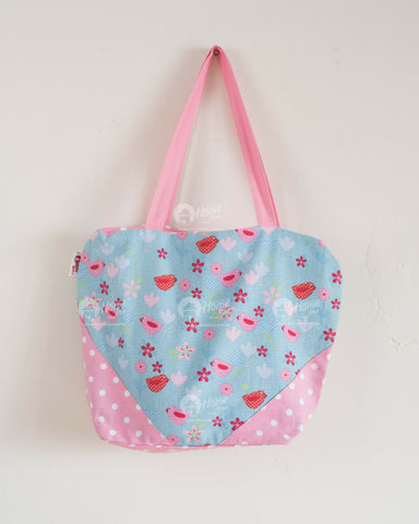 Shopping Bag - Birds & Flower