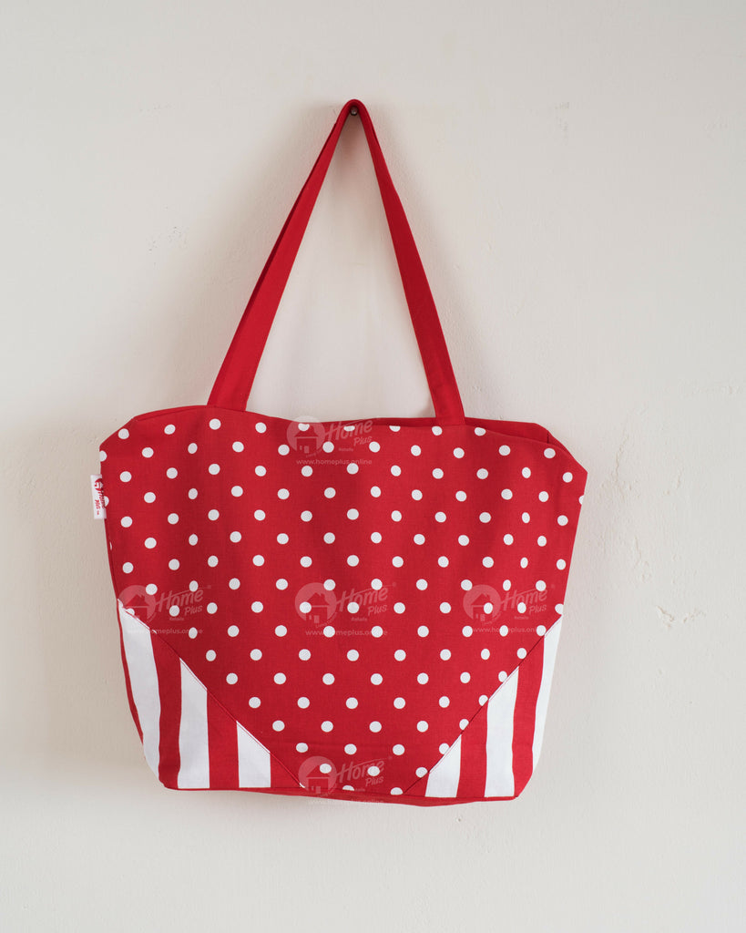 Shopping Bag - Polka Dot Red