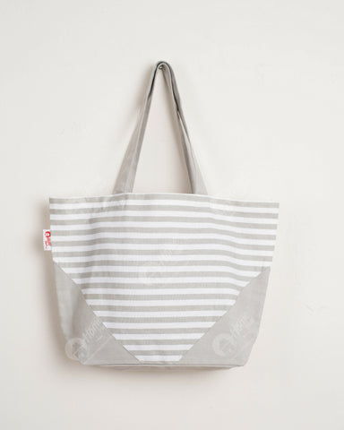 Shopping Bag - Thin stripe Grey