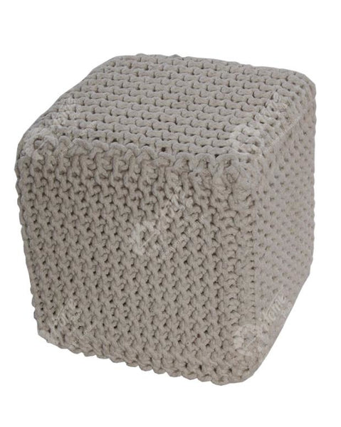 Knitted Cube Off White