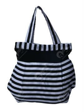 Fancy Bag - Thin Stripe Black